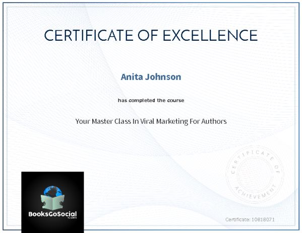 Your Master Class In Viral Marketing For Authors