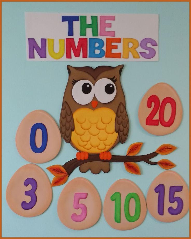 Mas trabajitos para adornar la sala de clases, esta es la 2da parte, esta vez hice los números del 0 al 20 en goma eva, cada numero mide 15c...