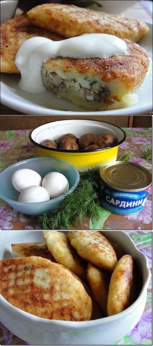 Рецепт на выходной: Картофельные зразы с сардинами