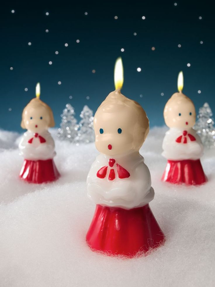 14 best images about vintage christmas on pinterest for Christmas candles and ornaments