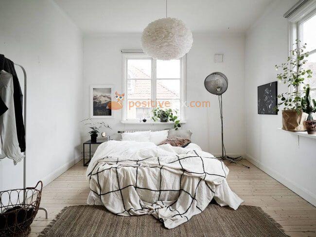Scandinavian Bedroom • Scandinavian Interior Design • Bedroom Interior | Explore more Scandinavian Bedroom  Ideas on https://positivefox.coma
