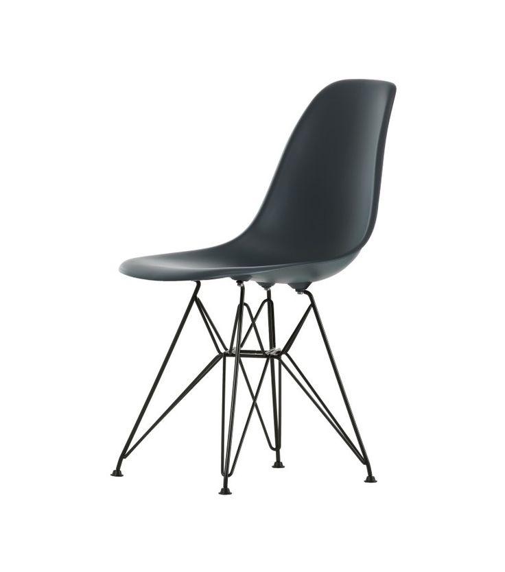 Eames Plastic Side Chair DSR Sedia Basic Dark Vitra