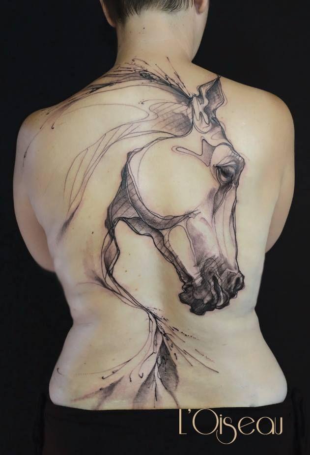 I like this one if I ever got a tattoo!!! Breath-taking backpiece by L'oiseau...