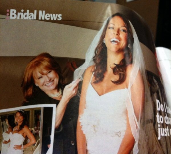Renee Strauss for the Bride, Beverly Hills, Life and Style Magazine May 2010 — with Eva LaRue.