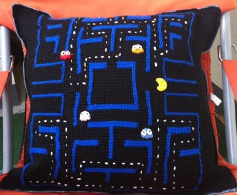 Pacman pillow