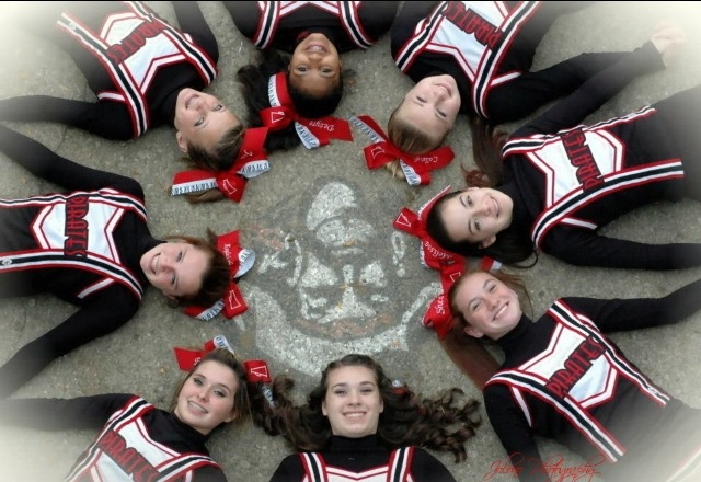 This is my cheer team! West Carrollton Middle School pirates❤