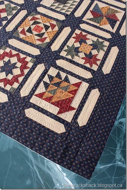 I'm making this quilt right now....very beautiful rich fabrics! Vintage Kansas City Star (Nice sashing *T)