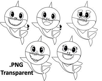 Baby Shark Song 10 Coloring Pages Super Simple Coloring ...