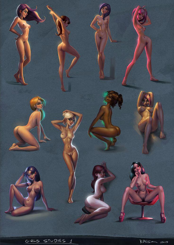 Girls Studies 01, Felipe Kimio on ArtStation at https://www.artstation.com/artwork/8wAw6