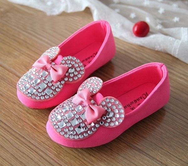 Just got Aubs a red pair :) 2014 NEW Kids Toddler Girls Bling Rhinestone Bow Candy Soft Flat Sneaker Shoes.