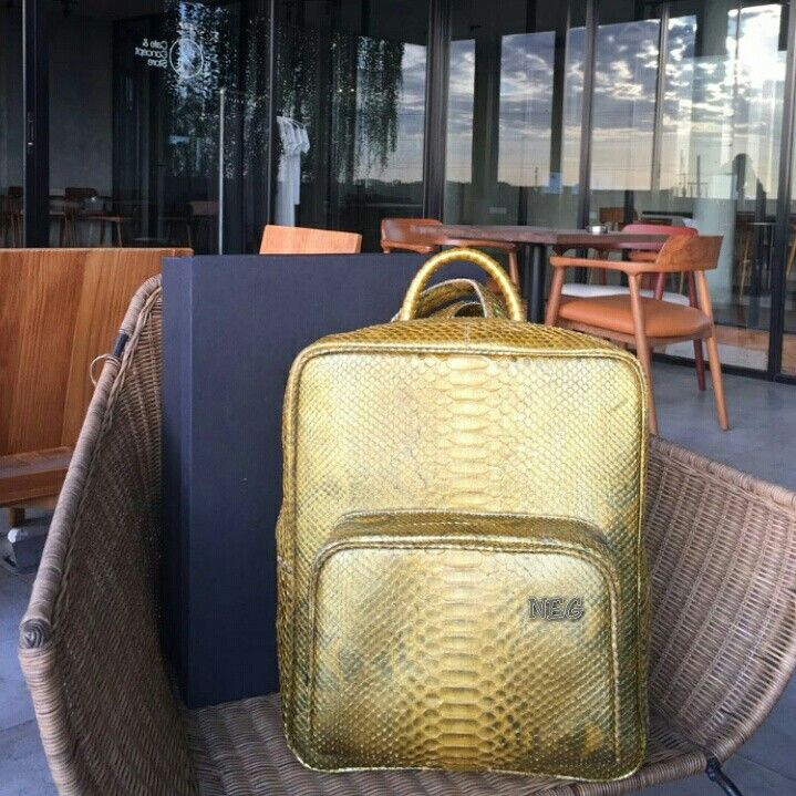Bravo Gold  LEO Bag, be a good day with lovely LEO Bag, Made from Real Python