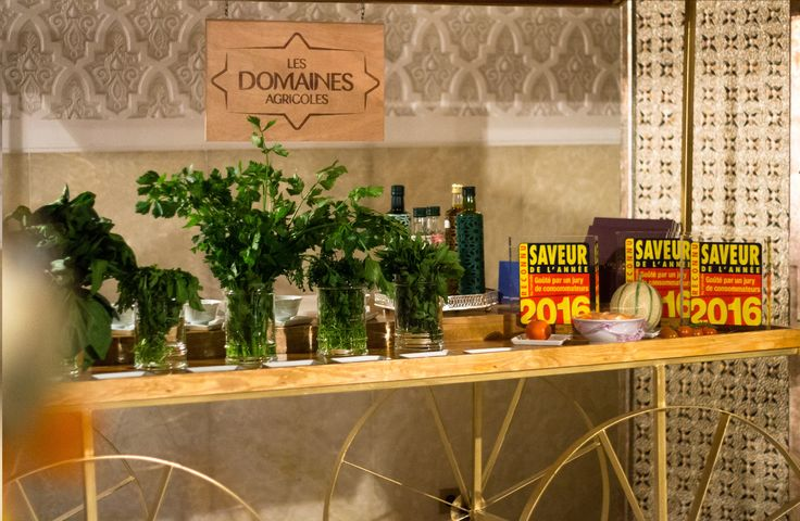 """The """"Domaines Agricoles"""" unveil their finest products. Other partners are participating in the different exhibitions #RoyalMansour #Marrakech #LocalProduce #Exhibition #Foodie #Cuisine #CulinaryWeek"""