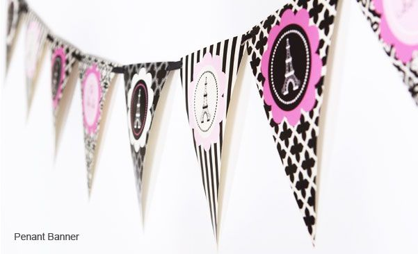 Paris Theme Party Party Kit :: Sweet 16 Party Favors :: Other Occassions :: My Irish Wedding Favors