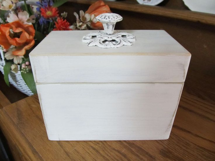 Recipe Box by BeachLifeDecoration on Etsy
