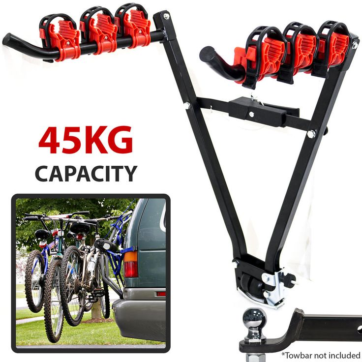 3 Bike Towbar Mounted Carrier. Round Tubular Mounting Arms: 25mm. Fits securely onto vehicle towbar. Length of mounting arms: 37cm. All dimensions are approximate and taken at the maximum points of the item, unless otherwise stated. | eBay!