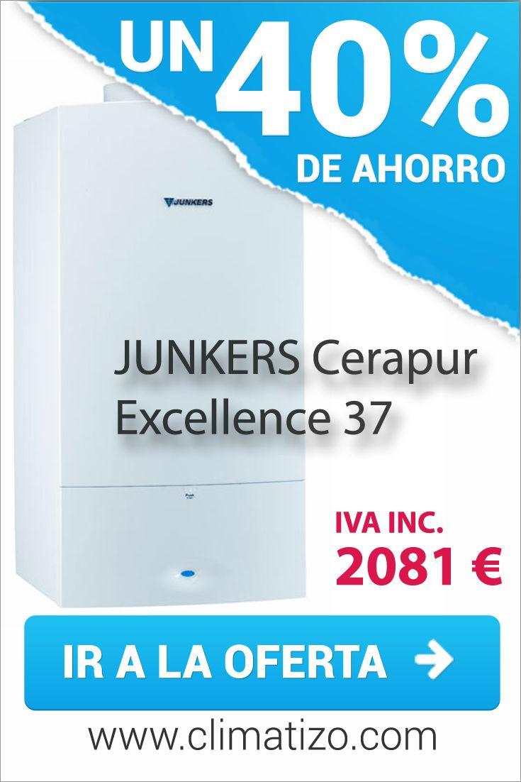 Oferta de caldera de condensación JUNKERS Cerapur Excellence 37. Precio mínimo garantizado.