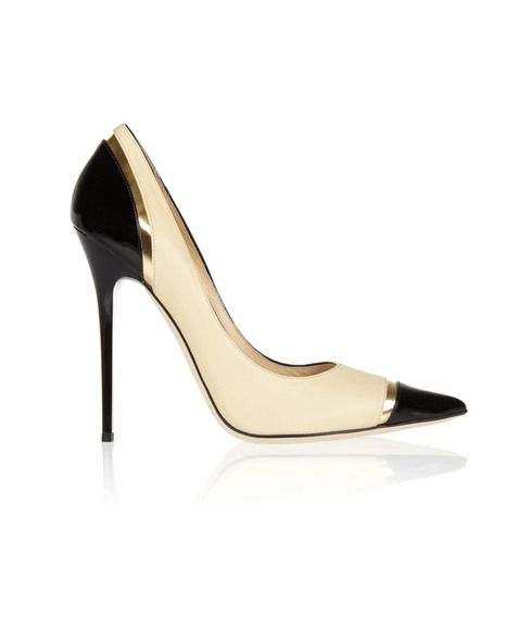 Jimmy #Choo black  beige heels. My feet hurt looking at them, but I think it would be worth it.