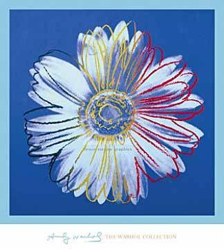 Art Print: Andy Warhol, Daisy, c. 1982 (blue on blue)