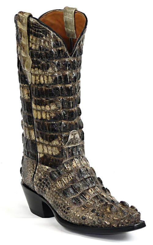 Natural Color Caymen Alligator Skin Cowboy Boots.