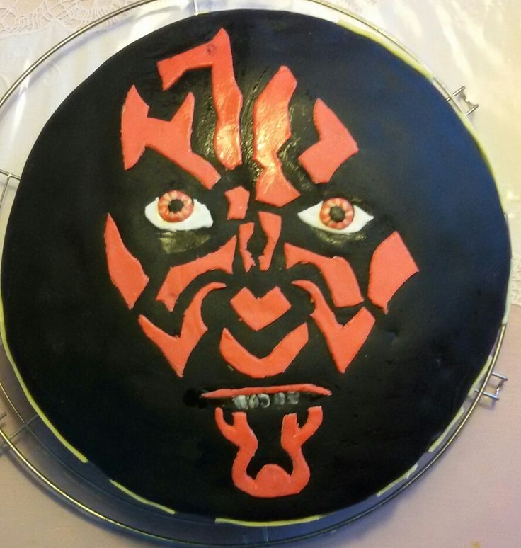 Darth Maul Star Wars cake