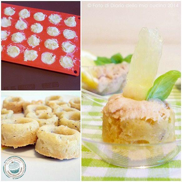 ©Diario della Mia Cucina - Ricette semplici, veloci e golose: Finger food di frolla con crema al tonno e limone