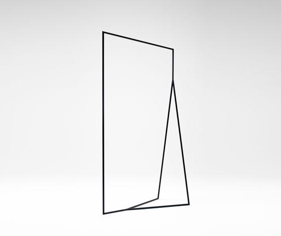 Thin Black Lines hanger rack by Nendo