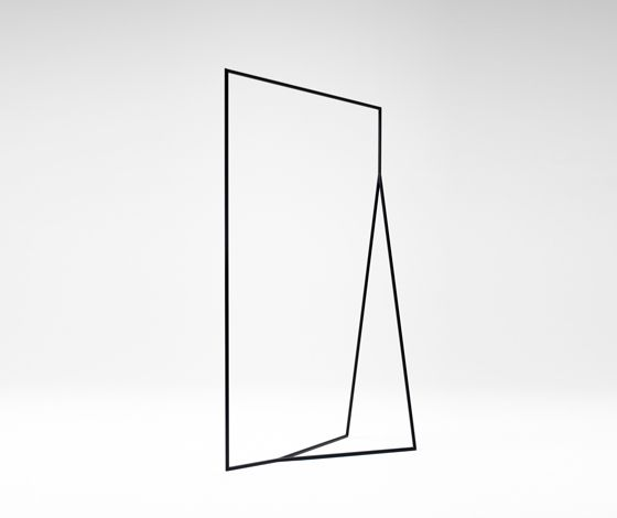 Thin Black Lines hanger rack by Nendo