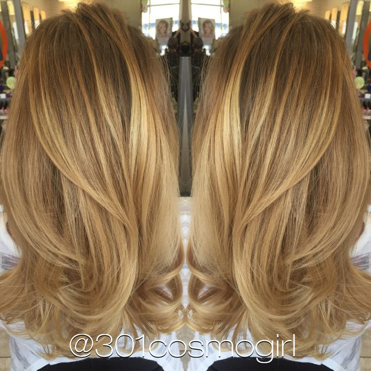 Absolutely in love with this caramel blonde balayage I did today! Beautiful golden caramel with pieces of pearl blonde! Hair by @301coamogirl