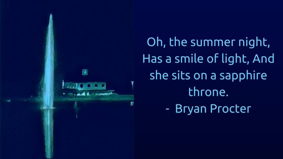 """""""Oh, the summer night, Has a smile of light, And she sits on a sapphire throne."""" – Bryan Procter The soft shimmer of moonlight. Warm breezes that are paradoxically cooling. Sweet scents of night flowers. The hum and buzz of...Read more"""
