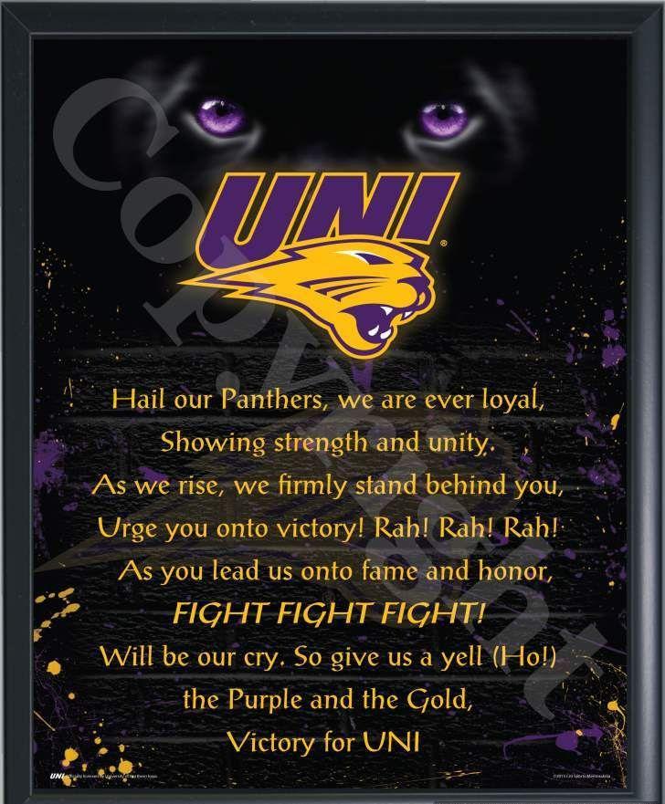 University Of Northern Iowa Fight Song Print-Choose Option