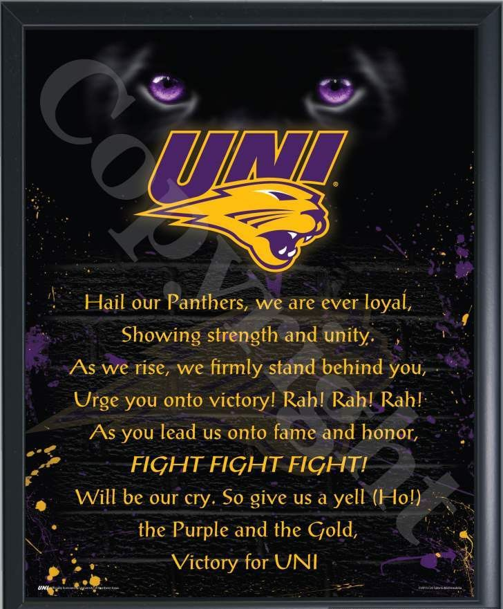 University Of Northern Iowa Fight Song Print-Choose Option