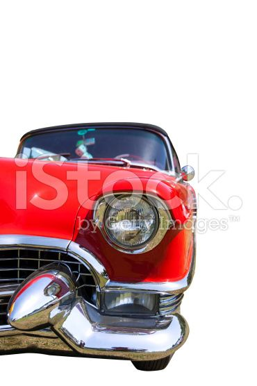 Classic Car Isolated On White royalty-free stock photo