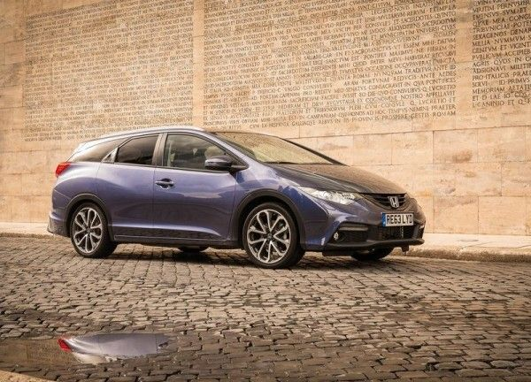 2014 Honda Civic Tourer Blue Wallpaper 600x432 2014 Honda Civic Tourer Full Review with Images