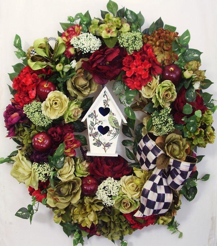 Spring Wreath Summer Wreath Motheru0027s Day Wreath