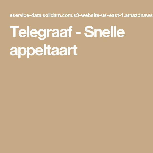 Telegraaf - Snelle appeltaart