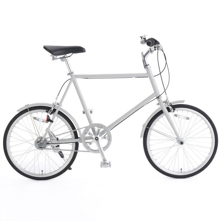 20型クロモリ自転車コンパクトタイプ グレー・内装3段泥除け付き   無印良品ネットストア
