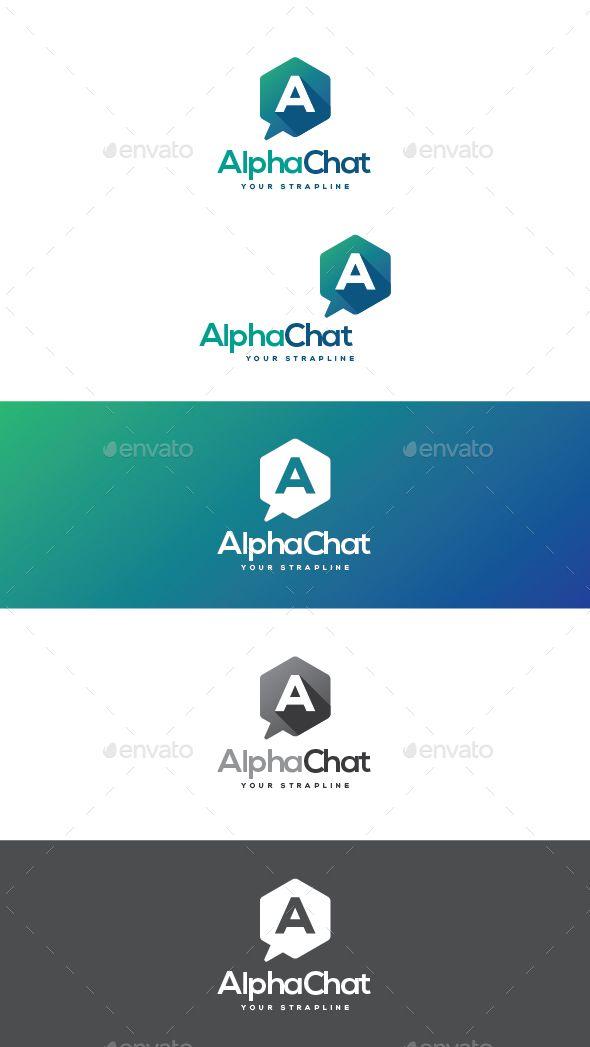 Alpha Chat Letter A Logo Template Vector EPS, AI Illustrator Logo