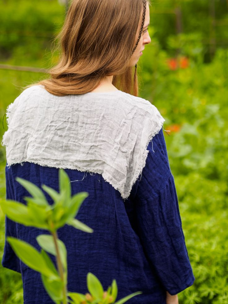 Issue #2 - D-due LAB: Yellow Mountain | Ink blue blouse. #dduelab #blouse #ink #blue