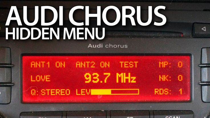 #Audi A3 8P #Chorus #radio hidden menu, service mode #cars #hiddenmenu #audiA3