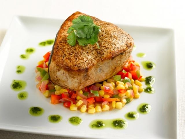 Swordfish on Corn Pepper Relish w/Cilantro Oil: Relish W Cilantro, W Cilantro Oil, Grilled Swordfish, Oils, Recipes Worth, Favorite Recipes, Cilantro Oil Recipe