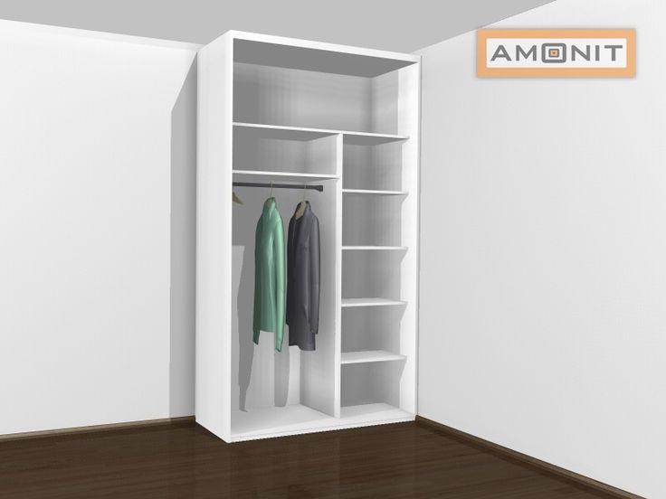 Ukázka vnitřního uspořádání vestavěné skříně - 5. varianta