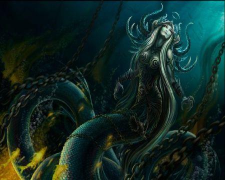 Dark Mermaid Art Pin by Leonn on Fantas...