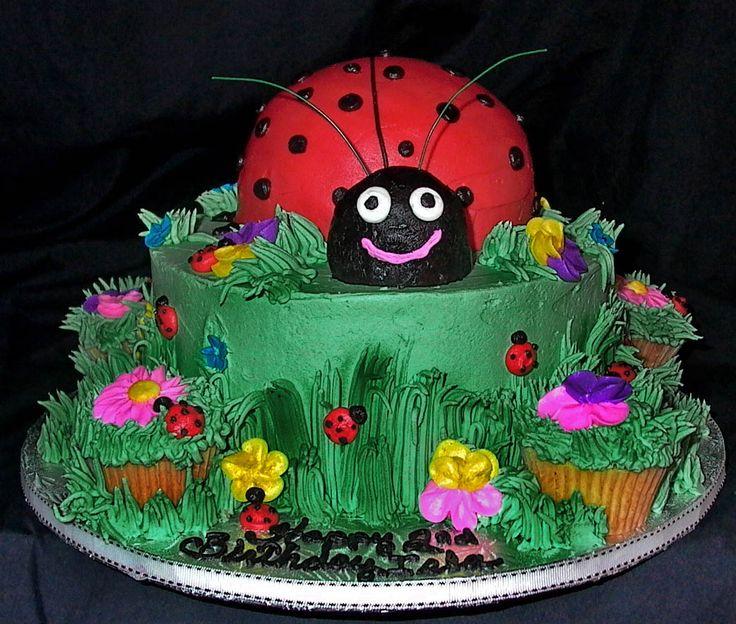 Kids Birthday Cakes Designs Ladybug Design  cakepins.com