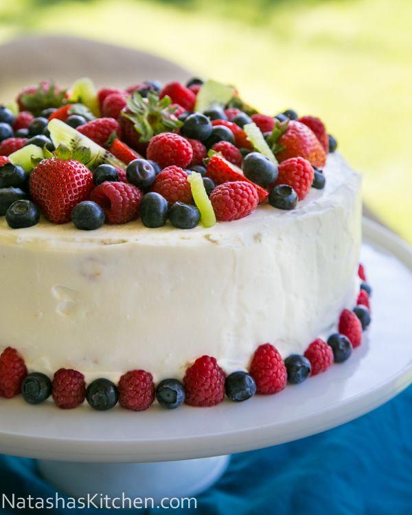 Kiwi Berry Cake (wait until you see what's inside!!) @NatashasKitchen