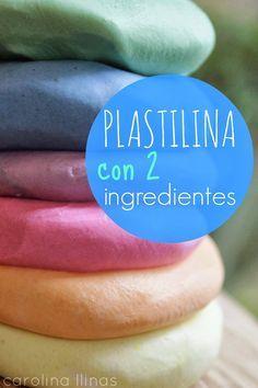 Plastilina con 2 ingredientes |1 de acondicionador y dos de maizena                                                                                                                                                                                 Más