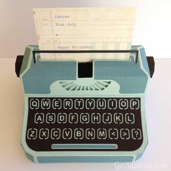 Typewriter Gift Box