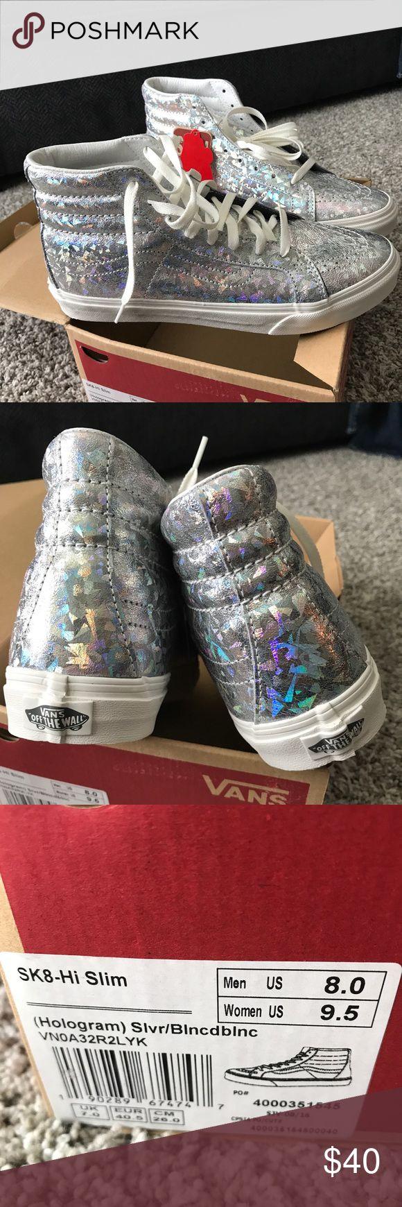 Brand new VANS!!! Brand new van sk8-hi slim sz 9.5 women's 8 men's. Hologram color very nice Vans Shoes Athletic Shoes