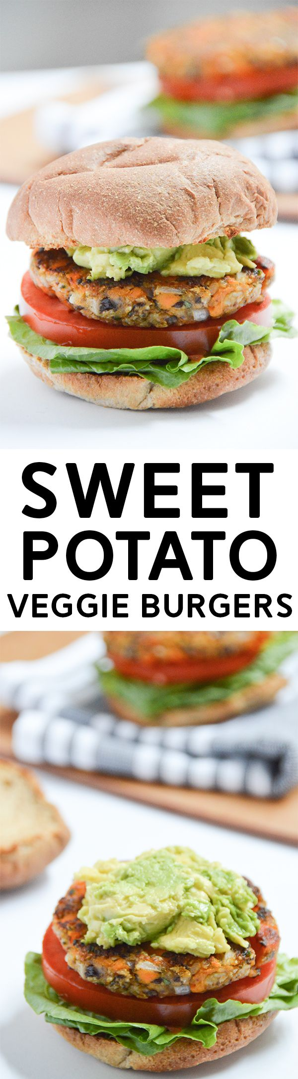Sweet Potato Veggie Burgers - vegan and gluten-free