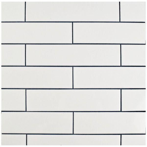 SomerTile 1.75x7.625-inch Victorian Soho Subway White Porcelain Tiles (Case of 100)
