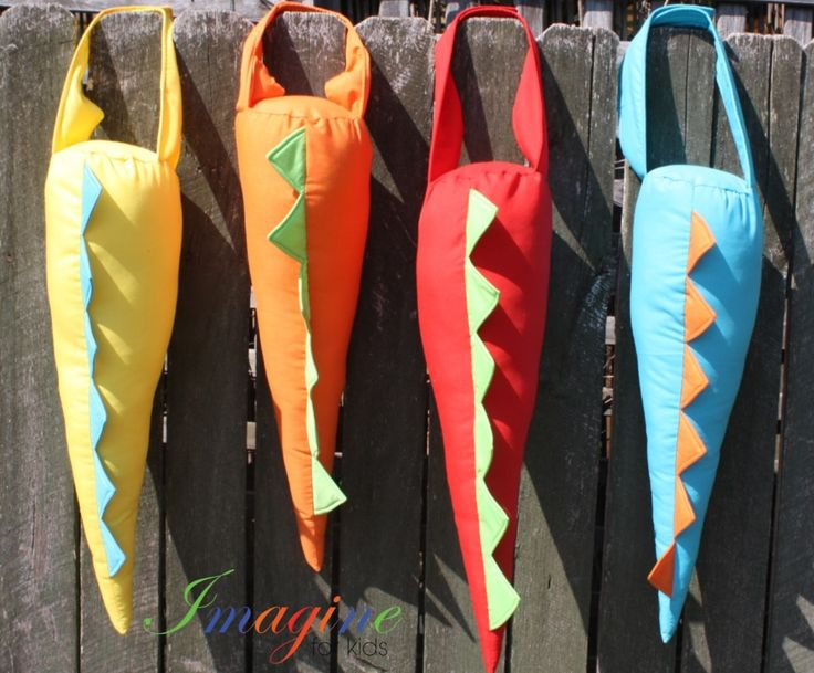 Great dinosaur tails - come in a wide range of colour combinations.   To order email Imagine For Kids at mailto:sales@imagineforkids.com.au  Check out out Facebook page www.fb.com/imagine4kids